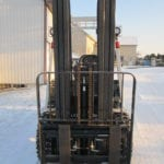 forklift in snow