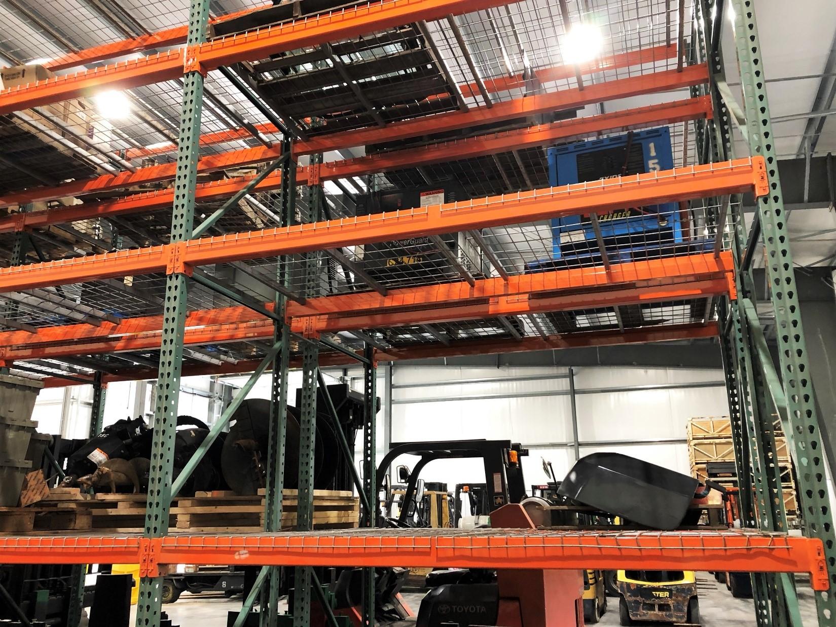Sam's mechanical pallet racks